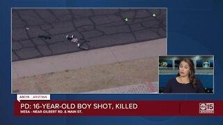 16-year-old boy shot, killed in Mesa