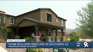 Home builders rebound