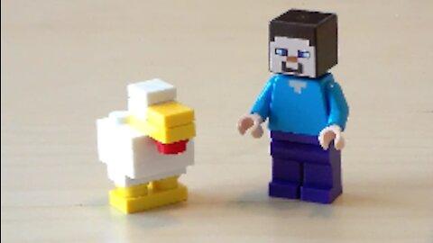 Lego Minecraft Chicken Tutorial