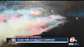 Seven-acre mulch fire forces evacuations
