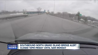 Another Grand Island bridge closure this weekend