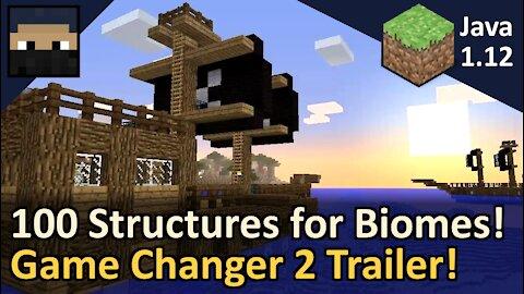 Biome Specific Structure Generator! Game Changer 2 Short Video! Minecraft Java 1.12