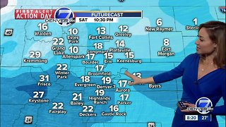 Snow and cold across Colorado this weekend