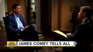 James Comey says it possible Russians have leverage over President Trump