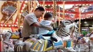 Noah's First Carousel Ride