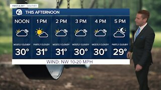 Metro Detroit Forecast: Chilly temps in the low 30s today
