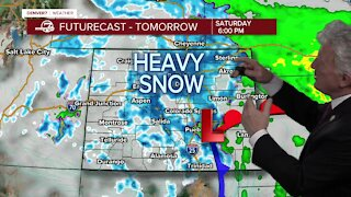 Heavy snow expected by Saturday afternoon, with more expected further north
