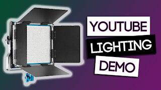YouTube Video Lighting Setup for Beginners (Demo) I Basic Studio Lighting Setup