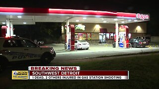 1 dead, 2 injured in gas station shooting in Detroit