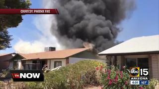 Propane tanks explode in Phoenix house fire