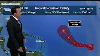 Tropical Depression 20 update