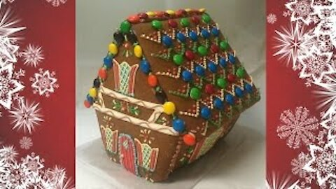 How to make an elf-inspired gingerbread house