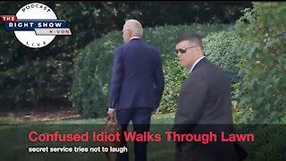 Biden Wanders Around White House Lawn... (comedian K-von cringes)