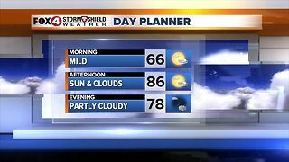 FORECAST: Dry and warm Thursday, a few showers/storms Friday