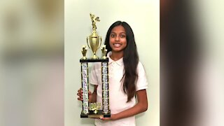 7th grader Angelina Gampala will represent WXYZ-TV in 2021 Scripps National Spelling Bee