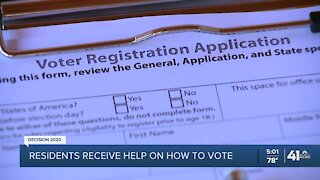 Residents receive help on how to vote