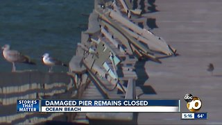 Damaged Ocean Beach Pier remains closed