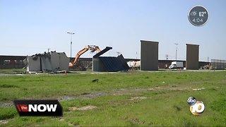 Demolition of Trump's border wall prototypes begins