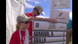 Some Honda Classic volunteers have the best seat in the house