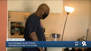 Constables help family stop eviction process