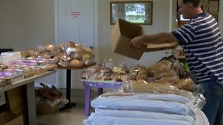 Vandalized church helping people in need