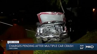 DUI charges pending in crash