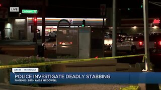 Deadly stabbing at Phoenix bus stop