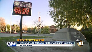Four students arrested for explosion on campus