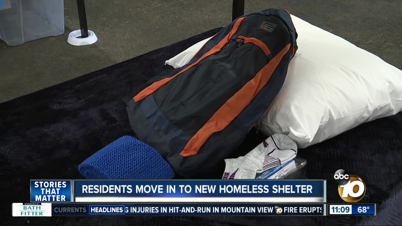 Residents move in to new homeless shelter