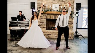 Father & daughter wedding dance is just too good to miss