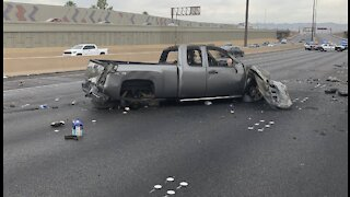 Double fatal wrong-way crash on U.S. 95 in Las Vegas