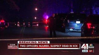 KCK police officer shot, suspect killed