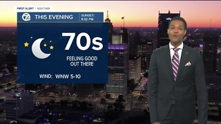 Storms exit and drier conditions return