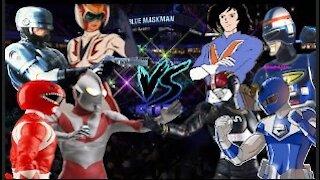 Power Ranger, Ultraman, Robocop, Daimos vs. Maskman, Black Masked Rider, Shaider, Voltes V