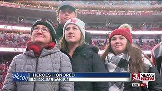 Heroes honored at Memorial Stadium