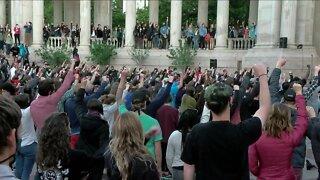 Vigil held for George Floyd in Denver more than 2 weeks after his death
