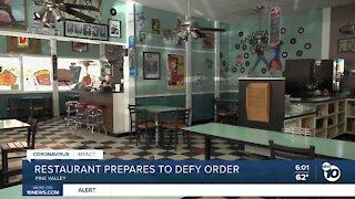 Restaurant prepares to defy county health order