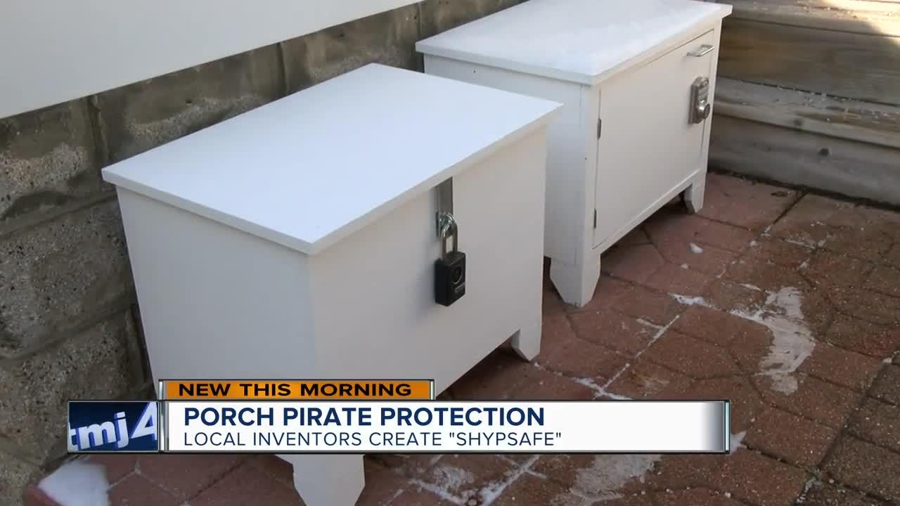 Local inventors create porch pirate protection