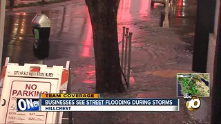 Businesses see street flooding, drivers see more potholes during storms