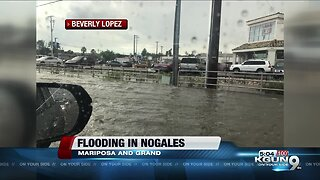 Flooded streets in Nogales