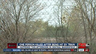 One person dead after being struck by train in Central Bakersfield