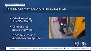 Schools plan to pause in-person learning after Thanksgiving