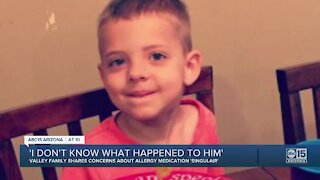 Valley family shares concerns about allergy medication 'Singulair'