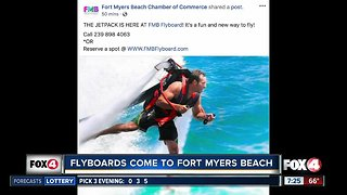 Flyboards come to Fort Myers Beach