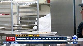 Summer food program starts for kids today
