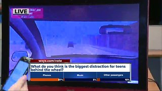 What's the biggest distraction for teens behind the wheel?