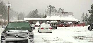 Snowing on Mount Charleston in Las Vegas