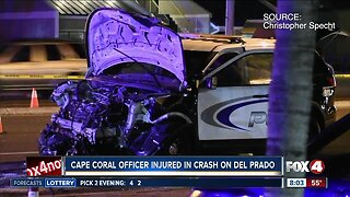 Two injured in crash involving Cape Coral officer Monday night