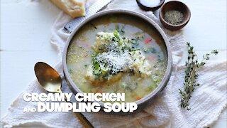 Creamy Chicken and Dumpling Soup Recipe