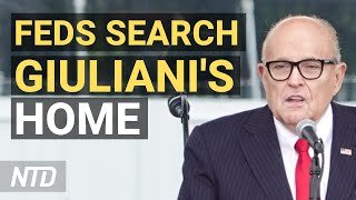 Feds Search Rudy Giuliani's Apartment, Office; Biden's First 100 Days in Review   NTD